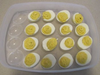 Deviled Eggs ready to go