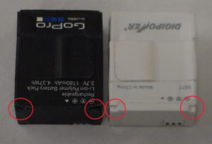 GoPro Batteries Notched