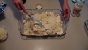 Mixing up the Cheesy Chicken Ravioli