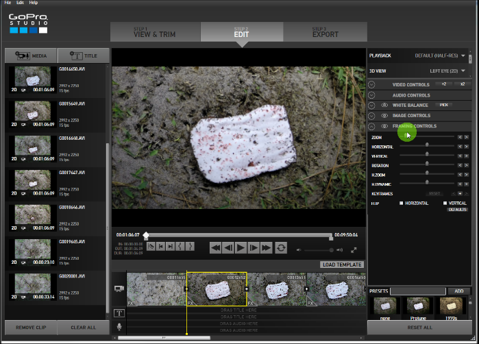 Creating time lapse video with gopro studio bolonys blog gopro studio edit screen pronofoot35fo Images