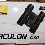 Nikon A30 10x25 binoculars Box