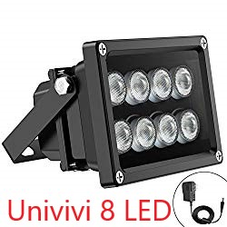Univivi IR Illuminator 8 LED Security Camera Floodlight