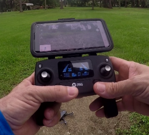 Drone remote with Smartphone attached